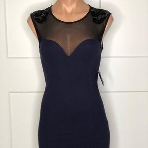 Heart shape, mesh dress sequence NWT size s